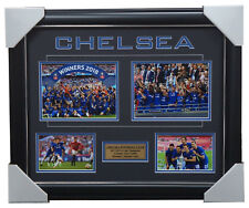 Chelsea 2018 FA Cup Champions Photo Collage Framed with Plaque - Fabregas Hazard