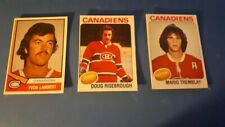 1974 O-PEE CHEE MONTREAL CANADIENS ROOKIE CARDS NRMINT
