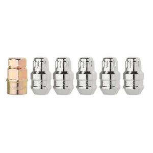 "Set of 5 Chrome Closed Acorn Locking Lug Nuts/Wheel Locks - 1/2""-20 - Dual Hex"