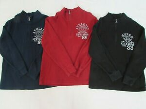 LOT OF 3 BOYS' THE CHILDREN'S PLACE ¼ ZIP PULLOVERS, SIZE MEDIUM 7-8