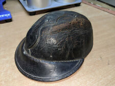 Victorian 1800's Coal miners mining protective leather helmet Vintage Antique