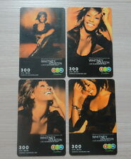 4 Whitney Houston Live in Bangkok Concert 2004 Thailand Phone Card Set Rare!