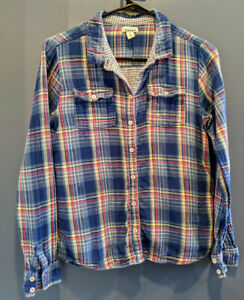 Old Navy Girl's Blue / White / Red Flannel Shirt Size XXL