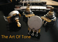 CTS 500K SHORT Split Shaft Audio Potentiometers Pots - SET of 4 - 450S/450G