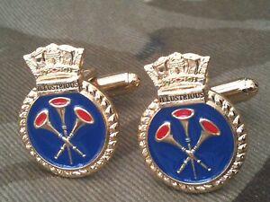 HMS Illustrious Royal Navy Cufflinks