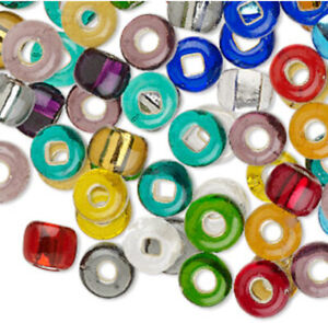 Czech Glass Beads Silver Lined Colorful Seed Beads Size #32 Round Lot 240 Beads