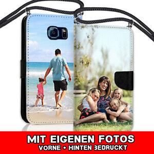 Für Samsung Galaxy A71 - Book Handy Tasche mit Kordel Band Kette DEINMOTIV