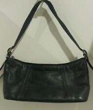 Tignanello leather handbag dark blue /grey