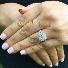 14k White Gold Cushion Forever One Moissanite Diamond Engagement Ring Halo 2.30