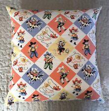 Retro Kitsch Design Childrens Western Cowboys & Cowgirls Feather Filled Cushion