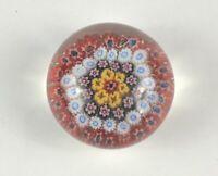Glass Flowers Paperweight Fine Art millefiori VINTAGE