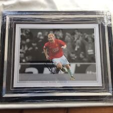 Paul Scholes Man Utd  Signed And Framed 16x12 Photograph COA Proof