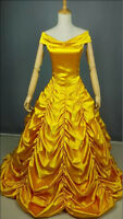 Fashion Princess Belle Costume Beauty And The Beast Cosplay Women Fancy Dress