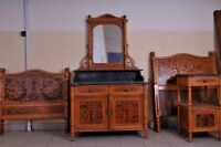 Rare Vintage Jacob&Josef Kohn Bedroom set c. 1890
