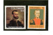 Colombia Personajes Militares series del año 1979-91 (BS-155)