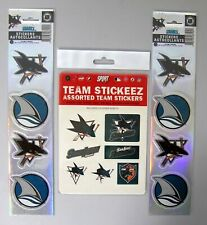 SAN JOSE SHARKS - UNIQUE SET OF NHL LICENSED STICKERS - ALL NEW!
