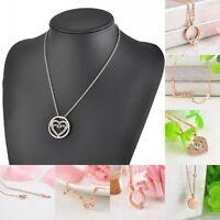 Hot Women Pendant Gold Chain Choker Chunky Statement Bib Charm Necklace Jewelry