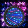 6'' Sensory Infinity Tunnel Mirror LED Light 3 Colors Wall Calm Desk Round