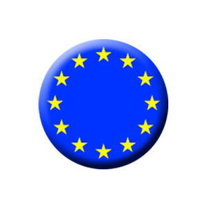 EU EUROPEAN FLAG PIN BADGE (1 inch / 25mm) CHEAP POSTAGE FOR BULK BUYS