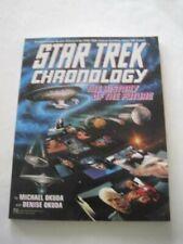 Signed x2! Michael Okuda Star Trek Chronology Sttng Business Card Scenic Art