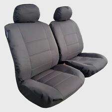 Waterproof Charcoal Canvas Car Seat Covers Full Set Airbag Safe Front & Rear