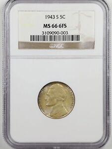 1943-S 5C Jefferson Nickel MS66 6FS NGC 3109090-003