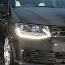 Vw T6 Transporter BLACK V2 LED DRL Headlights, T6 Headlamps, T6 Lights, T6 LED
