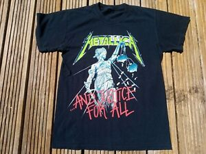 METALLICA VINTAGE 1994 JUSTICE FOR ALL T SHIRT METAL REAR PRINT