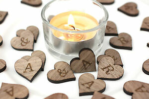 Table Confetti Personalised  - Wooden Rustic Weddings !!