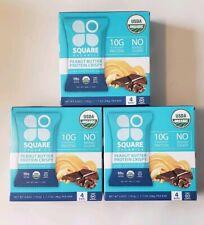 LOT 12 Square Organics Dark Chocolate Chip Peanut Butter Crispy Protein Bars