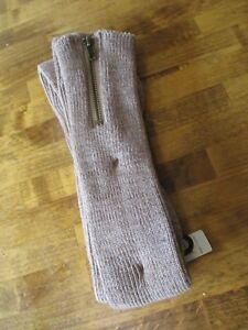 "Womens SIMPLY NOELLE Cocoa Brown Zip Top 21"" Tall Boot Socks ONE SZ FITS MOST"