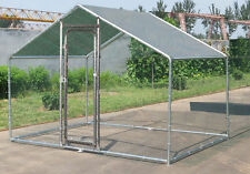 Deluxe Large Metal 7x10 ft Chicken Coop Backyard Hen House Cage Run Outdoor Cage