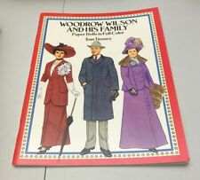 Woodrow Wilson Family Paper Doll Book Tom Tierney UNUSED Dover USA