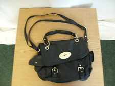 "Ladies Handbag BHS black textured faux leather, 13x9.5x4"", adjustable strap 3201"