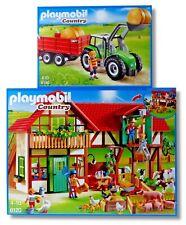 "PLAYMOBIL® Country 6120+6130 ""Großer Bauernhof+Traktor mit Anhänger"" NEU/OVP!"