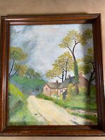 "Vintage S Brooks ""Spring In England"" Oil Painting - Signed And Framed"