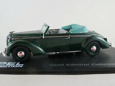 IXO #66 Opel Admiral Cabriolet Gläser (1938) in dunkelgrün 1:43 NEU/PC-Vitrine
