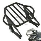 Black Adjustable Two Up Luggage Rack For Harley Electra Street Glide Road 09-17