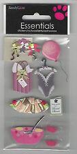 """Sandylion Essentials BRIDAL SHOWER 3D Stickers  2-3/4""""X5"""" wedding"""