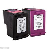 1 x HP 300XL Black + 1 X HP 300XL Colour Refilled Cartridges CC641EE CC642EE