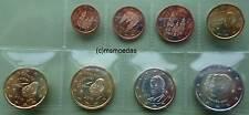 Spanien KMS 8 Euro Münzen 2014 mit 1 Cent bis 2 Euro König Felipe VI. Euromünzen