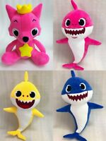 4x PinkFong Animal Cartoon Stuffed Toy Plush Doll Soft Toys Fox Sharks Kids Baby