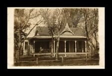 DR JIM STAMPS US HOUSE FRONT PORCH EXTERIOR VIEW REAL PHOTO RPPC POSTCARD