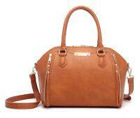 Aitbags Women's Leather Tote Handbag Satchel Purse Crossbody Work Shoulder Bag