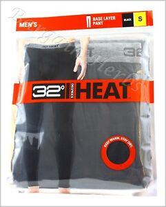Men's 32 Degree HEAT Medium Weight Base Layer Pant New Free Shipping Black S-XL