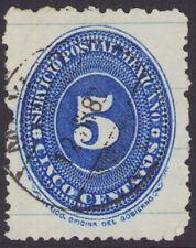 dg48 Mexico #198 25ctv perf 12 Blue Line issue used est $10-30