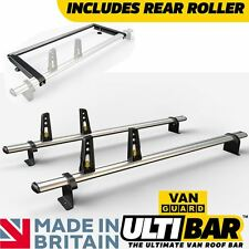 Nissan NV200 Roof Rack 2x Roof Bars + Roller Van Guard ULTI Bar