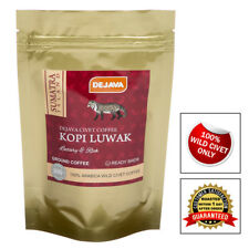 100% SUMATRA WILD CIVET CAT COFFEE KOPI LUWAK - FRESHLY ROASTED & GROUND 125g