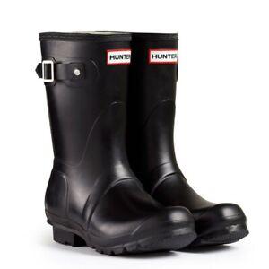 WAREHOUSE SALE Ladies Short Hunter Wellies Wellington Boots Black Size 4