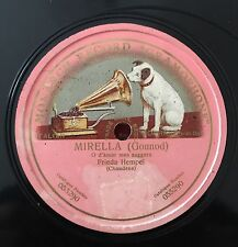 "RARE 78RPM 12"" ONE SIDED FRIEDA HEMPEL MIRELLA GOUNOD O D'AMOR MESSAGGERA MONARC"